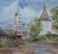 Карапузкина Е. «Дорога в Боровске». 2010, акв., бум., 20х30
