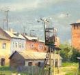 Бугаев А. «Древние стены», 1998, к., м., 37х51
