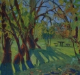 Чичурина А. «В тени деревьев». 2010, бум., темп., 44х49