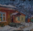 Чичурина А. «Сумеречный свет». 2010, цв. бум., темп., 30х40