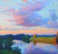 Гринин Е. «Вечер на реке». 2009, пастель, 85x137