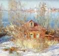 Комаровский И. «Март». 1990-е, х., м., 60х130