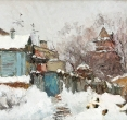 Комаровский И. «Дом на берегу». 2000-е, х., м.