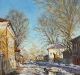 Комаровский И. «Апрельская тишина». 2001, х., м., 70х50