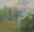 Евстратова Л. «Лето. 3. Скамейка». 2012, х., м., 60х60