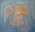 Войнова Е. «Ангелы со свечой. Несущие свет». 2008, х., м., 60х67