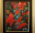 Дубин Валерий «Бабочки в саду». 1992, х., м., 44х34