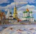 Складановская Г. «Коломна. Первый снег». 2013, х., м., 50х70
